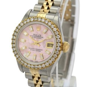 Rolex Lady Datejust Pink MOP Diamond Watch